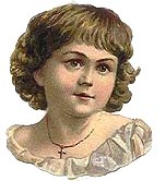 cute Victorian girl with cross necklace