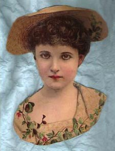 Victorian lady in straw hat